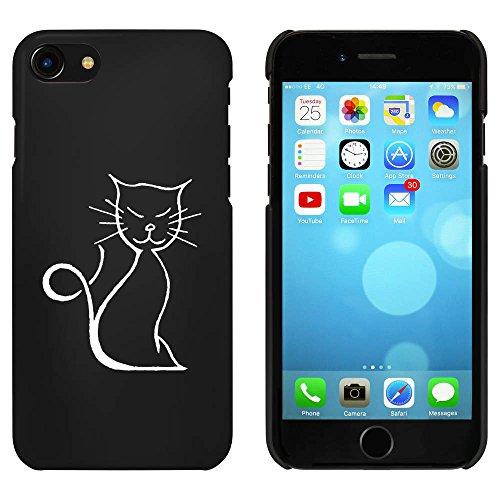 Noir 'Chat Heureux' étui / housse pour iPhone 7 (MC00089670)