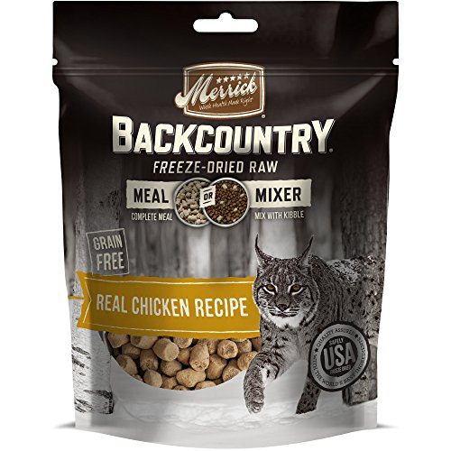 Chicken Meal Recipe (Merrick Backcountry Freeze-Dried Raw Real Chicken Recipe Meal or Mixer Grain Free Adult Cat Food, 4 oz.)