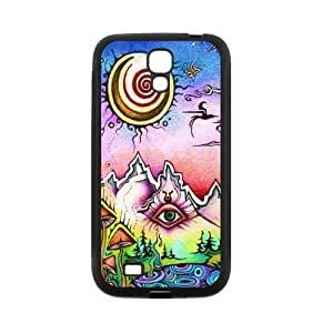 Crazy Trippy Protective Rubber Back Fits Cover Case for SamSung Galaxy S4