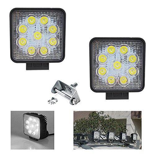 VINGO® 2X Arbeitsscheinwerfer LED 12v 27w Scheinwerfer Außen Zusatzscheinwerfer Wasserdicht IP67 10-24V DC fsders