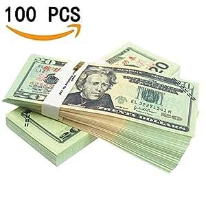 amazon com prop money play money pretend dollar bills 2 000 full