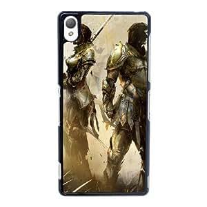 E5D84 arte Guild Wars fan T6E1DN Funda funda caso de Sony Xperia Z3 teléfono celular cubren DF3WQH6FF negro