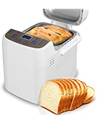 COSVII Programmable Bread Machine with Removable Non-stick Pan- 1.5-Pound Loaf, All Kinds of Breads, 15-Hour Delay Time, Gluten-free Setting, 2 Loaf Sizes, 3 Crust Colors, Automatic keep warm 1 hour