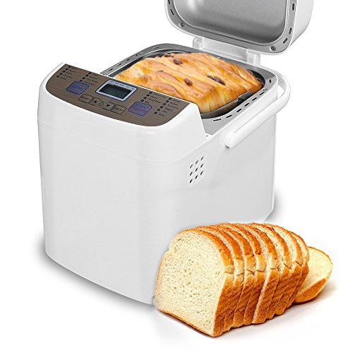 White bread machine with a programmable setting.
