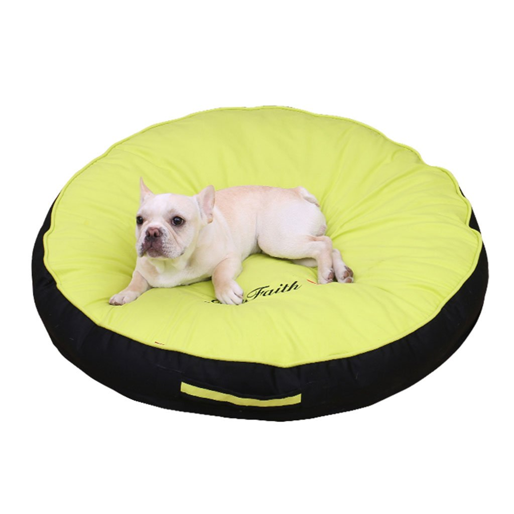 B Green 80CMBEDS Dogs Furniture For dogs Cotton without static electricity Dog Pet (color   E Yellow, Size   60CM)