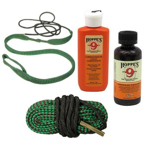 .22, .223 Quality Gun / Pistol Cleaning Kit Including Bore Cleaner, Snake and Lube Oil - 2 Snakes - Makes Cleaning Simple