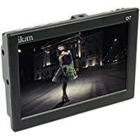 Ikan D7-1 7-Inch 3G-SDI LCD Monitor with IPS Panel Includes Canon 900, Sony L, Panasonic D54 Battery Plates (Black)
