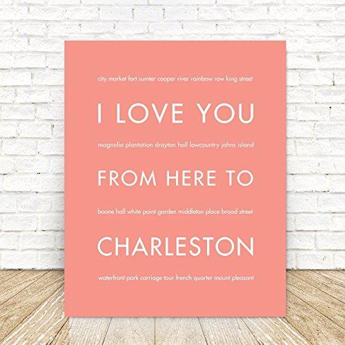 CHARLESTON South Carolina State Travel Art - Sc Street Market Charleston