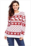 KLCGHITFJ Women Men Ugly Santa Christmas Party Knitted Sweater Jumpers NO1 M
