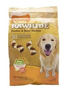 Nylabone Rawhide Filet Mignon Flavored Braid Puppy Dog Treat Bone