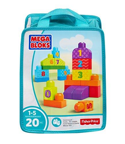 Mega Bloks 1-2-3 Count! Bag - Packaging Colors May Vary
