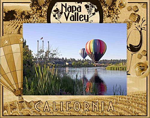 Valley Napa Decor - Napa Valley California Laser Engraved Wood Picture Frame (5 x 7)