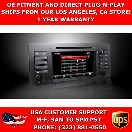 OttoNavi BM990653-DYBMNAXX BMW 01-07 E53/X5 Multimedia In-Dash Double Din OEM Replacement Car Radio