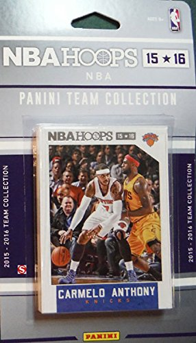 New York Knicks 2015 2016 Hoops Basketball NBA Licensed Factory Sealed 11 Card Team Set with Carmelo Anthony and Kristaps Porzingis - Knicks York Set New