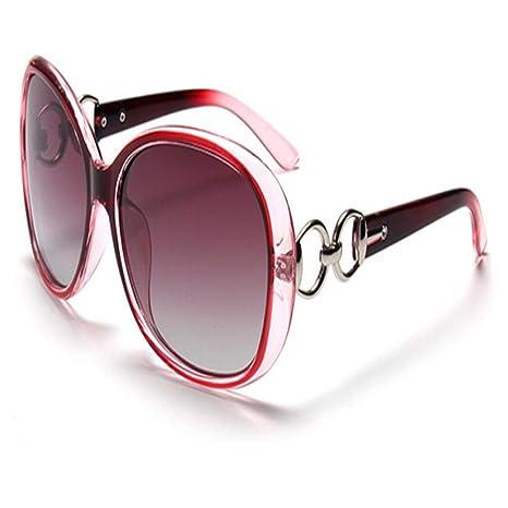 Yangjing-hl Gafas de Sol polarizadas Retro Mujeres Lentes ...