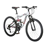 24'' Mongoose Ledge 2.1 Boys' Mountain Bike, Silver/Red