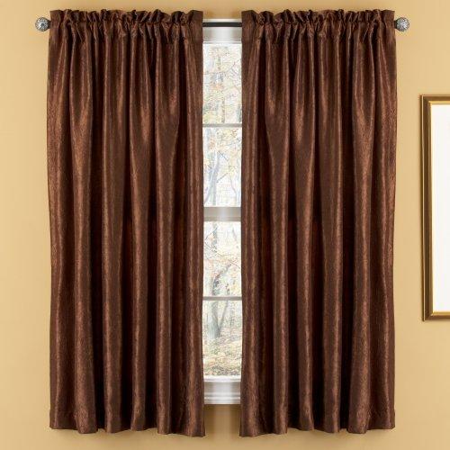 (Elegant Home Fashions Aretha Crushed Faux Silk 52-Inch by 63-Inch Window Panels,)