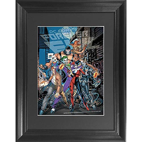 Batman Villains Forever Evil 3D Poster Wall Art Decor Framed Print | 14.5x18.5 | Lenticular Posters & Pictures | Memorabilia Gifts for Guys & Girls Bedroom | DC Comic Book Classic Hero Movie Fan Photo]()