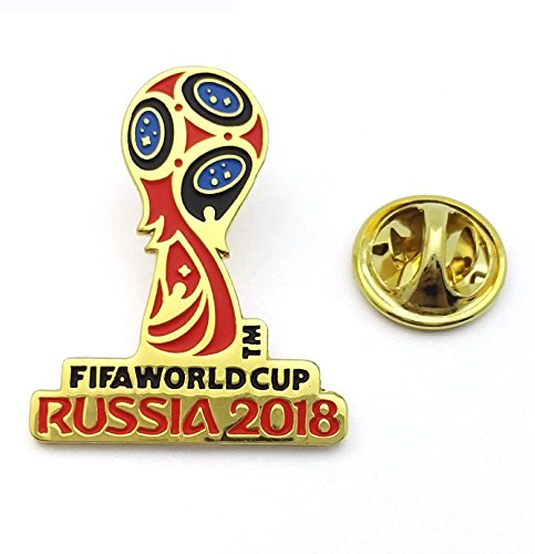 (FIFA World Cup Russia 2018 Logo Pin (Gold and Color))