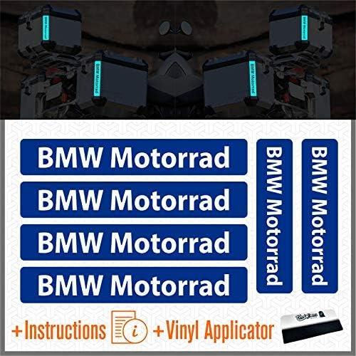Black 6pcs BMW Motorrad Autocollants R/éfl/échissants R 1200 1150 F 800 650 F700 GS A R1200GS R1200 Touratech Motorcycle Aluminium Panniers Sacs Lat/éraux Top Case
