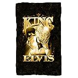 Elvis The King Fleece Blanket White One Size
