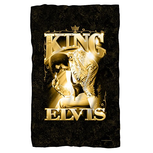 (Elvis Presley - TCB - The King - Fleece Throw Blanket)