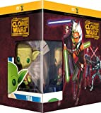 Star Wars: The Clone Wars (Complete Seasons 1-5) - 22-DVD Box Set & Yoda FUNKO Figurine ( Star Wars: Clone Wars - Seasons One to Five (108 Episodes) ) [ NON-USA FORMAT, PAL, Reg.2 Import - France ] by Tom Kane