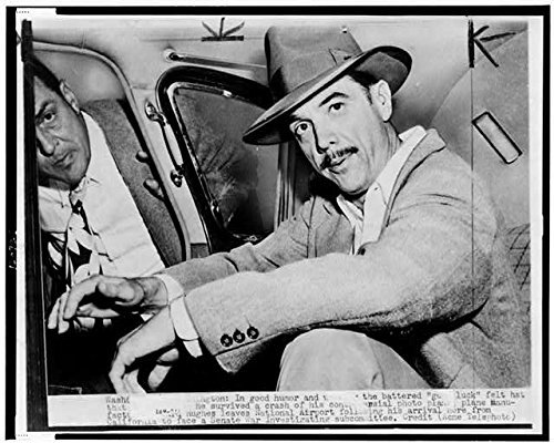 Photo: Howard Hughes,in automobile at National Airport,1947,American Business Tycoon