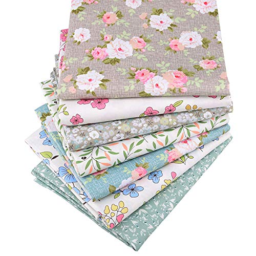 "Quilting Fabric,Multi Color Fat Quarters Fabric Bundles,Print Floral Quilt Fabric for Sewing Crafting,18"" x 22"""