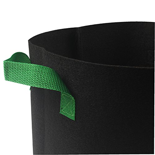 Casolly Grow Bag/Aeration Fabric Plant Pots with Green Handles for Plants,15-Gallon 6-Bag by Casolly (Image #3)