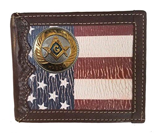 Flag Distressed fold Wallet Large a States background Custom Texas United Bi Mason with q8APnwx