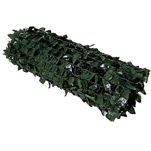 (FASHION GARDEN Faux Ivy Privacy Fence Screen Artificial Hedge Fencing Outdoor Decor 59X118 INCH Hard Mesh Backing Two Packing)