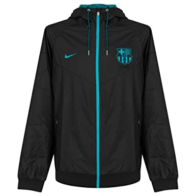 Nike Herren Jacke FC Barcelona Linie für M NSW WR WVN AUT, Schwarz