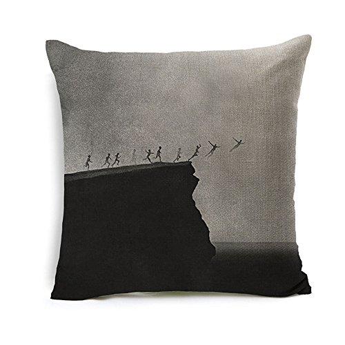 All Smiles Kids Movie Throw Pillow Case Cushion Cover 18x18 Cotton Linen - English Linen