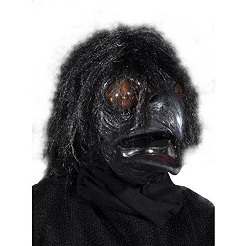 Zagone Ravenous Mask, Raven Black Bird, Moving Mouth -