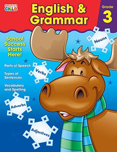 English & Grammar, Grade 3 (Brighter Child: Grades 3) (Parts Of Speech Review Worksheet 3rd Grade)