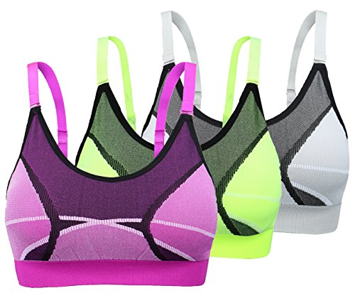 taigee Women's Removable Padded Sports Bra Medium Support Workout Yoga Bras