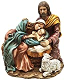 Holy Family Sculpture of Mary Joseph and Baby Jesus Nativity in Bethlehem Figurine