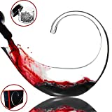 Amazing Home Lead Free Crystal Glass Scorpio Wine Decanter,Red Wine Carafe,Prepackaged Luxury Gift Box and Free Cleaning Beads Set