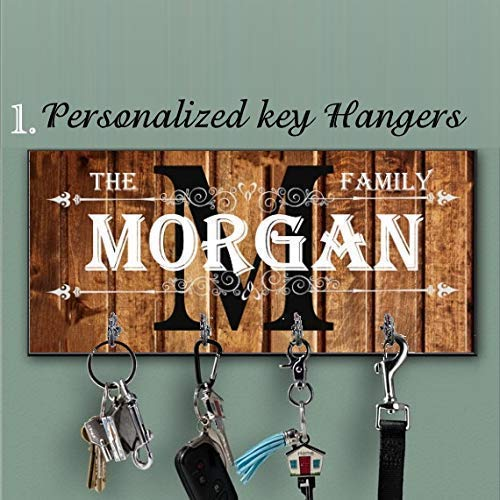 Personalized Wall Mount Key Rack Anniversary Design,Housewarming Gift,Personalized Gift,Wall Key Rack State home key hanger home decor Blue key holder for wall Housewarming Gift Custom key rack