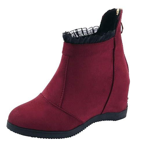 Damen Herbst Chelsea Boots Winter Gefütterte Yogogo Warm SUzVqpMG