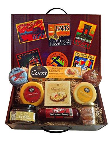 International Tour Gourmet Gift Basket with German Summer Sausage