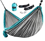 ErgaLogik-Tree-Friendly-Double-Nest-Camping-Hammock-w-Premium-Hammock-Straps-400lbs-Capacity-10-feet-6-inches-x-6-feet-6-inches-Great-for-LightWeight-BackPacking