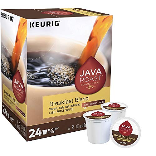 Java Roast R24323953 Breakfast Blend Keurig K-Cup Pods, Lt Roast, 96/CT