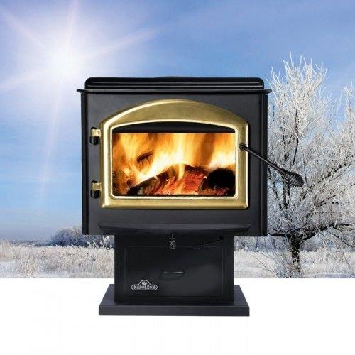 - Medium Wood Burning Stove - Metallic Black