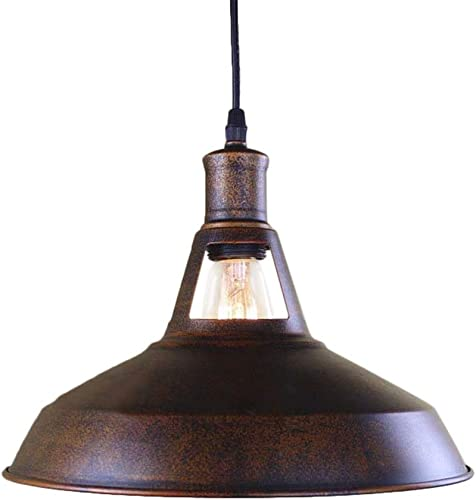 BAYCHEER HL421217 Industrial Retro Vintage Style 12 Wide Small Single Light Pendant Light Lampe Chandelier in Antique Copper use E26 27 Bulb