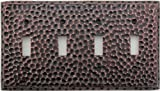 Classic Accents Hammered Antique Copper Wall Plate - 4 Toggle