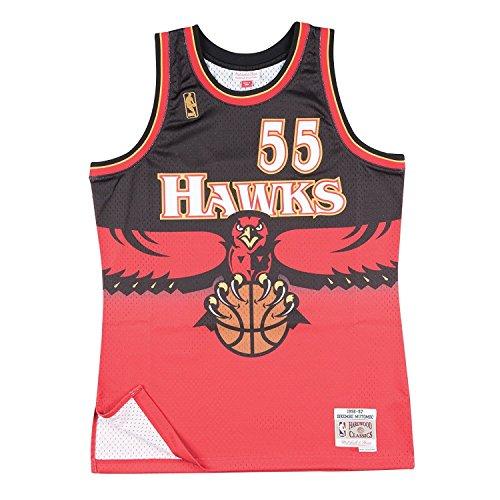 - Mitchell & Ness Atlanta Hawks Dikembe Mutombo Swingman Jersey NBA Throwback Red (Large)