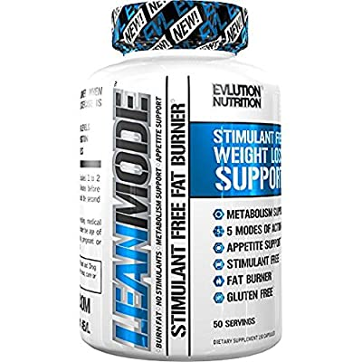 Evlution Nutrition Lean Mode Stimulant-Free Weight Loss Support with Garcinia Cambogia, CLA and Green Tea Leaf extract (50 Servings)
