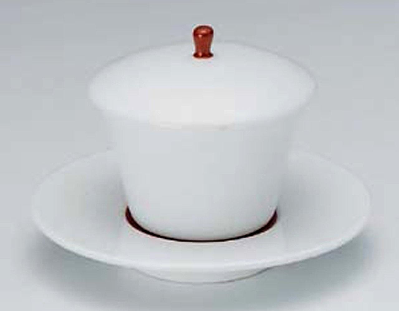 赤巻 12㎝ 強化蒸し碗10点セット 茶碗蒸しや蒸し物料理に   B00LE63ES4